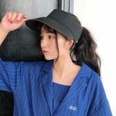 夏季戶外防曬空頂帽子女夏遮陽帽出游防紫外線太陽帽折疊鴨舌草帽 一次元