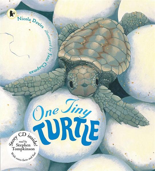 【麥克書店】ONE TINY TURTLE /英文繪本附CD 《主題:自然科學》