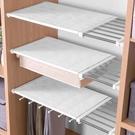 衣櫃免打孔伸縮分層隔板收納架學生宿舍隔離...