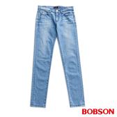 BOBSON 低腰後袋刺繡小直筒褲(8127-58)