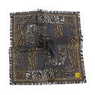 FENDI動物紋字母LOGO純棉帕巾(灰色)989006-13