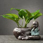 創意綠蘿水培植物玻璃透明養花花瓶插花容器花盆器皿桌面裝飾擺件