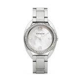COACH 甜美珍珠貝晶?錶-銀/30mm-CO14502056