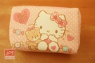 Hello Kitty 凱蒂貓 柔絲方筆袋 收納袋 粉點點 970761