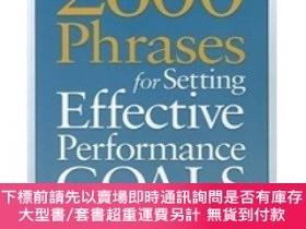 二手書博民逛書店2600罕見Phrases for Setting Effective Performance Goals: Re