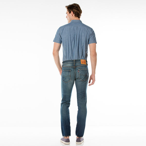 Levis 男款上寬下窄 / 501 Taper 排扣牛仔長褲 / MIJ日製 / 輕磅無彈性