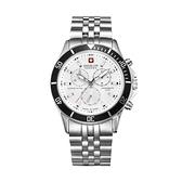 【SWISS MILITARY HANOWA】FLAGSHI瑞士錶簡約日期鋼帶錶-紳士銀SM14286MSN.H04MSGS台灣總代理公司貨兩年保固