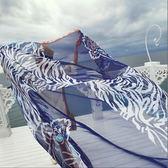 春季上新 新款春夏秋韓版虎頭女士雪紡圍巾披肩兩用 百搭絲巾女沙灘巾紗巾