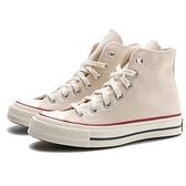 CONVERSE 70S 1970 CHUCK TAYLOR ALL STAR 米白 奶油頭 黑標 帆布鞋 高筒 男女 (布魯克林) 162053C
