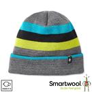 【SmartWool 美國 滑雪復古條紋圓帽《中性灰》】SW018053/保暖帽/毛帽/針織帽