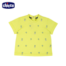 chicco-飛行浣熊-熱氣球印花短袖上衣