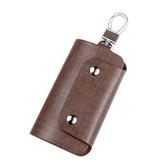 汽車鑰匙包男士多功能大容量女式小包牛皮創意迷你簡約鎖匙包 青木鋪子