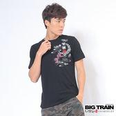 BIG TRAIN 燃夏金魚圓領T-男-黑色