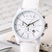 A/X Armani Exchange 亞曼尼 AX1325 潮流個性純白三眼腕錶 熱賣中!
