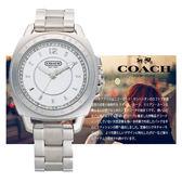 【僾瑪精品】COACH Boyfriend 時尚紐約客風情女用鑽錶-銀/41mm/14501284