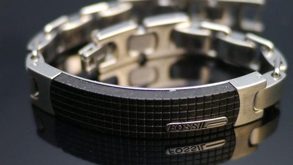 ╭☆ Silver shop ☆╯ 鈦鋼 手鍊 FOSSIL 正品 專櫃款 [ stp 012 ]