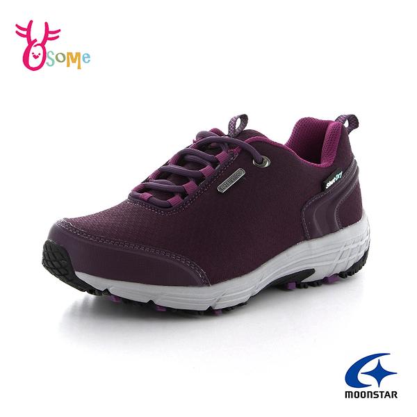Moonstar月星日本防水機能鞋 女鞋 防水運動鞋 Shut Dry健走鞋 休閒鞋 登山鞋 J9602#紫色◆OSOME奧森鞋業