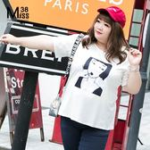 Miss38-(現貨)【A04828】閨蜜裝女孩 照片T 人像T 百搭圓領 純棉彈力 短袖上衣 大碼T恤 -中大尺碼
