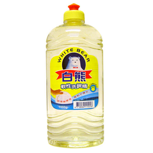 白熊軟性洗碗精1000g【愛買】