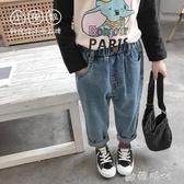 童裝牛仔褲女童長褲兒童寬鬆寶寶洋氣褲子中小童韓版春裝 ◣歐韓時代◥