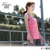 OrangeBear《KS0071》台灣品質.世界同布~橫條織紋透光感休閒背心.5色--適 S~3L