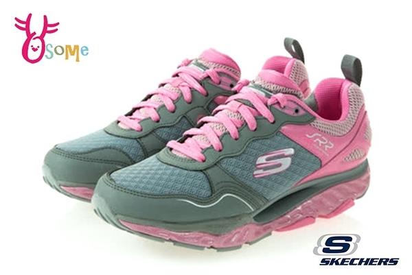Skechers運動鞋 女鞋 SRR 彈力鞋 翹翹板 超軟Q 慢跑鞋 健走鞋 運動鞋 R8222#灰粉