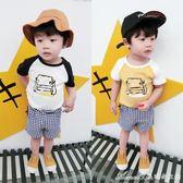 夏裝男童短袖t恤 薄款寶寶半袖體恤韓版嬰兒兒童上衣女潮童裝艾美時尚衣櫥