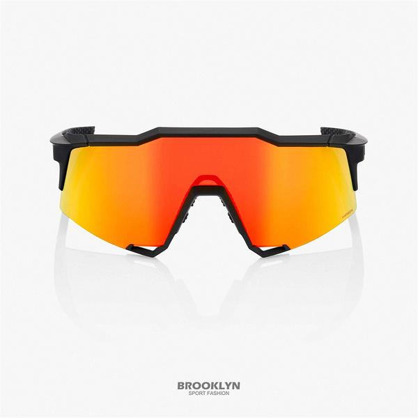 【100%】太陽眼鏡 黑橘 運動 騎行 21 SPEEDCRAFT - SOFT TACT BLACK W 1006100141201