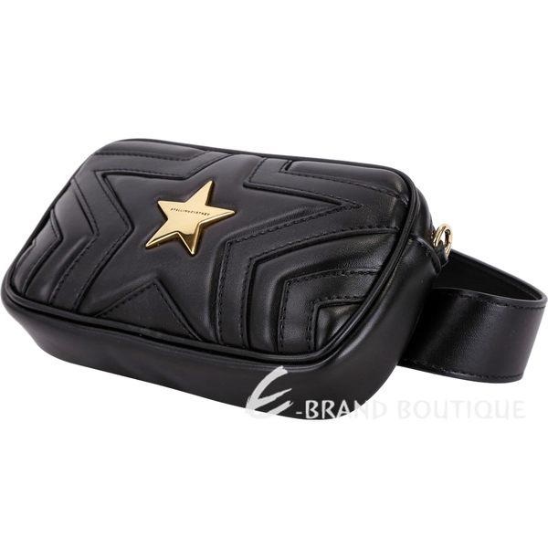 Stella McCartney Star 星型絎縫手拿腰包(黑色) 1840149-01