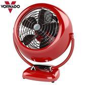 【歐風家電館】VORNADO 沃拿多 7.5吋 經典復古 循環扇 VF25 (紅色/雯麗公司貨)