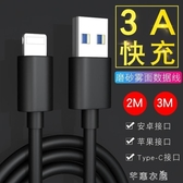 2/3米加長手機數據線適用XS蘋果X/8/7/6S安卓V8充電線Type-C快充 交換禮物