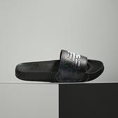 New Balance 黑 格子 休閒 涼拖鞋 SMF200BW