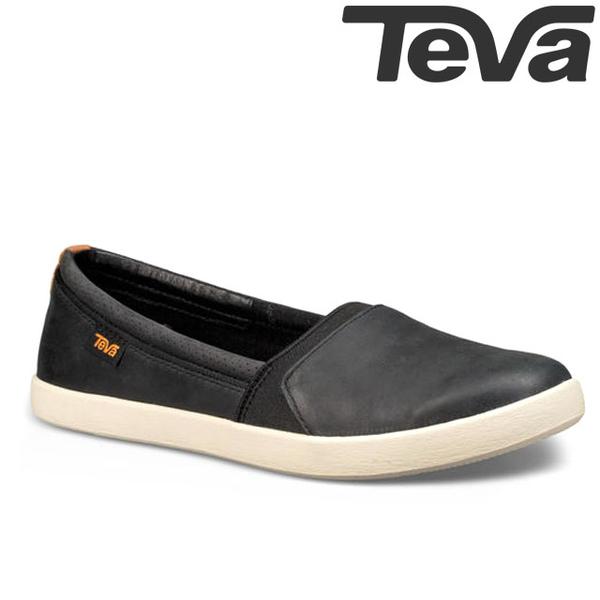 TEVA 《女款》Willow Slip on 極簡防水柔軟皮革套入式平底鞋 - 黑