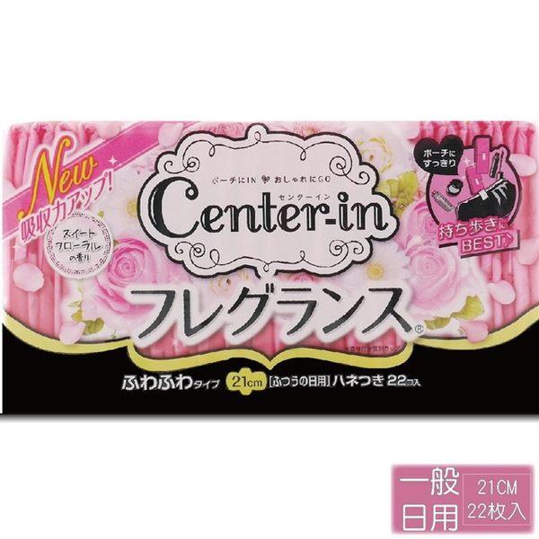 【日本Center-In】柔軟花香蝶翼 一般日用 21cm (22枚入)
