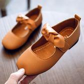 童鞋女童皮鞋春秋2018新款秋季女孩公主鞋兒童鞋子軟底單鞋豆豆鞋 【好康八八折】