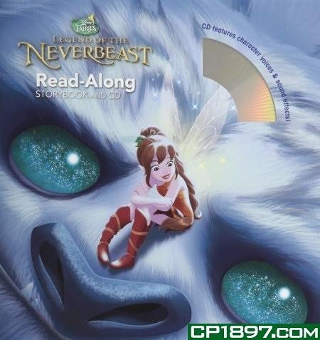 【麥克書店】TINKER BELL AND THE LEGEND OF THE NEVERBEAST/書+CD /英文繪本附CD ‧聽迪士尼說故事