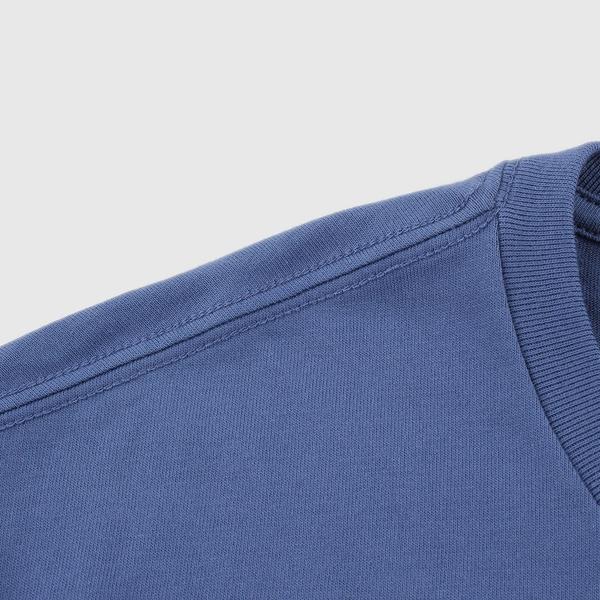 Gap男裝 Logo純棉寬鬆圓領短袖T恤 848801-藍色