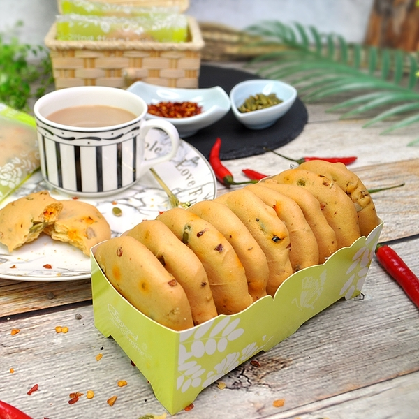 辣椒餅乾 170公克(9入/盒) _愛家純素午茶點心 微辣鹹甜美味可口 健康全素零食 素食可用