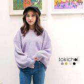 東京著衣-多色輕甜休閒拋袖針織上衣(172917)