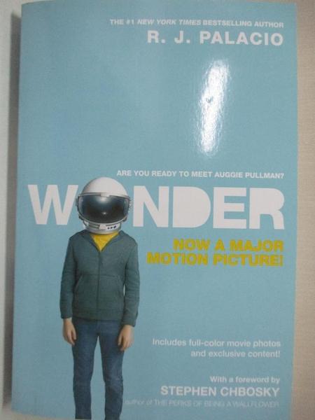 【書寶二手書T8/原文小說_LAW】Wonder (Movie Tie-In Edition)_R. J. Palacio