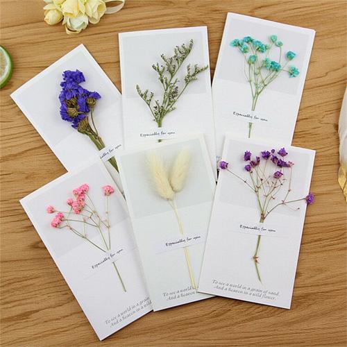 乾燥花創意賀卡 感謝留言賀卡 生日 母親節 祝福賀卡