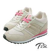 【韓國T2R】玩色系列內增高休閒運動鞋女鞋 ↑8cm 卡其(5600-0123)
