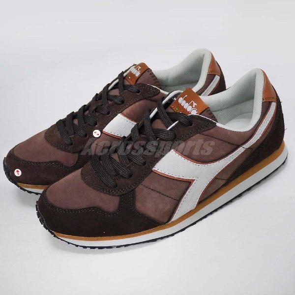 【NG出清】DIADORA 復古慢跑鞋 K Run 咖啡 灰 雙腳鞋面色差 運動鞋 男鞋【PUMP306】