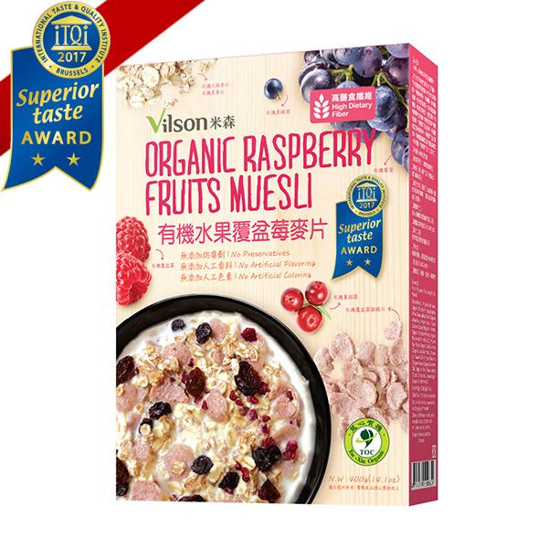 米森~有機水果覆盆莓麥片400公克/盒
