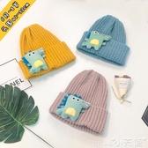 兒童帽子男女兒童毛線帽恐龍寶寶帽子1秋冬季6月-8歲保暖2小孩套頭帽3純色 聖誕節