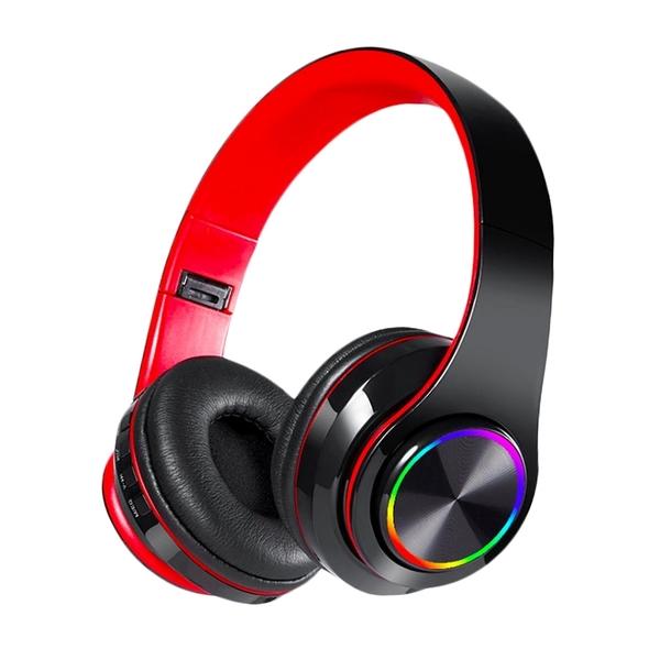 炫彩光折疊藍牙5.0耳罩耳機 全罩式藍牙耳機 重低音耳罩式耳機 頭戴式藍芽耳機 無線雙耳耳機