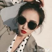 韓國潮網紅墨鏡女圓臉方圓形偏光太陽鏡街拍防紫外線遮陽男士眼鏡 第一印象