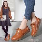 牛津鞋真皮小皮鞋子女鞋春季英倫風牛津鞋韓版平底系帶單鞋女特賣