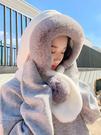 毛絨帽子女冬天韓版學生百搭甜美可愛圍脖網紅款圍巾一體加厚保暖 錢夫人