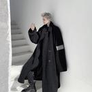 ZSJ服飾 冬季大衣男冬季加厚手臂貼布寬松男士長款過膝羊羔毛風衣外套 全館免運